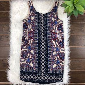 [Lila Rose] Bohemian Paisley Shirt Tank Dress 2